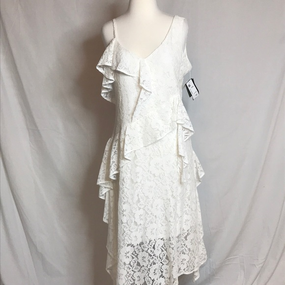 Taylor Dresses Ruffled Tiered Lace Midi Dress Nwt Poshmark
